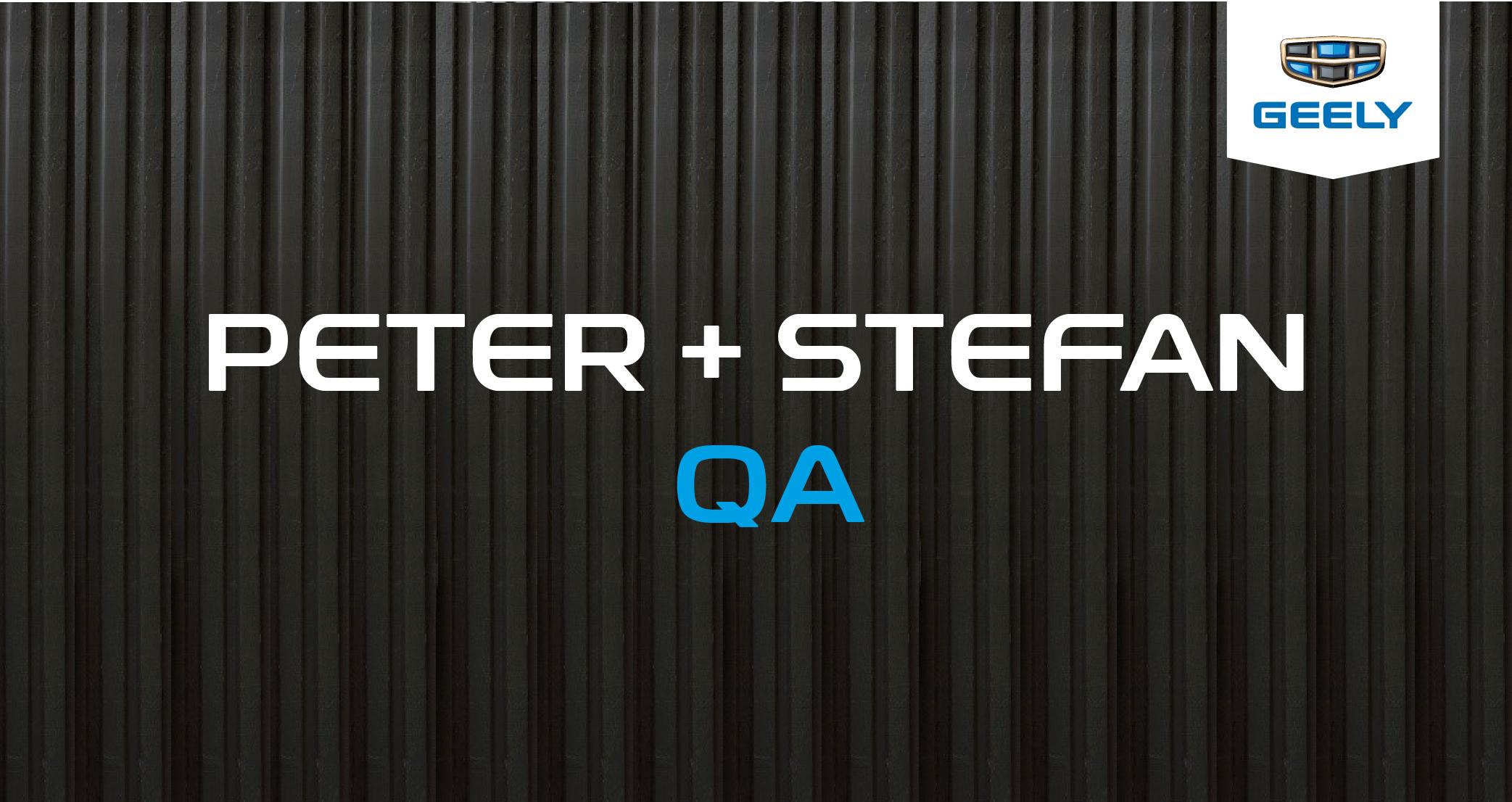 Peter y Stefan QA Geely